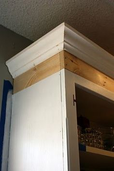 1000 images about house kitchen on pinterest above for Attaching crown molding to kitchen cabinets