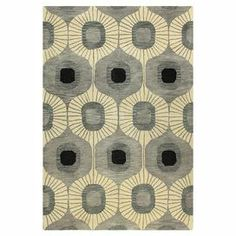 Hand-tufted wool rug with ogee motif.  Product: RugConstruction Material: 100% WoolColor: GreyFeatures: Hand-tuftedNote: Please be aware that actual colors may vary from those shown on your screen. Accent rugs may also not show the entire pattern that the corresponding area rugs have.Cleaning and Care: Regular vacuuming and spot cleaning recommended