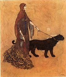 Edmund Dulac  Illustration for Arabian Nights  Queen of the Ebony Isles