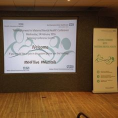 Today we are holding a 'moving forward with maternal mental health' conference to promote the importance of awareness of maternal mental health. #maternal #mental #health #mmh #conference #NHFTlive http://ift.tt/1QD6d1Z