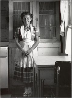 +~+~ Vintage Photograph ~+~+  Young Mother in Utah. 1953.  You've gotta love the socks . . .