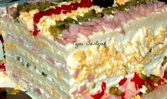 Slana torta je trenutno jedno od najaktuelnijih predjela. Predjelo koje se prosto topi u ustima biće sigurno odlično prihvaćeno. Dobar je ... Macedonian Food, Food Tags, Sandwich Cake, Appetizer Salads, Appetizers, Croatian Recipes, Xmas Food, Best Food Ever, Southern Recipes