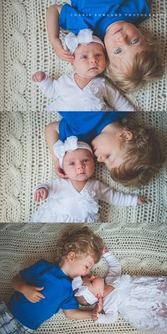 Adorable newborn photos with the older sibling. These poses are too cute. Newborn photography | sibling photos | brother and sister photos