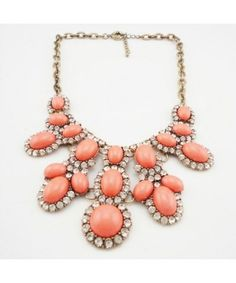 Glisten Crystal Exaggerated Alloy Necklace Free Shipping