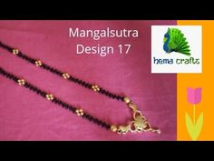 Mangal sutra making at jewellery making Beading Projects, Beading Tutorials, Jewellery Making Materials, Jewelry Making, Gold Jewelry, Beaded Jewelry, Indian Arts And Crafts, Gold Mangalsutra Designs, Craft Work