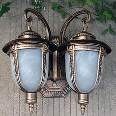 Pared+exterior+de+luz,+2+luz,+Pintura+de+cristal+de+aluminio+Classic+–+EUR+€+115.49