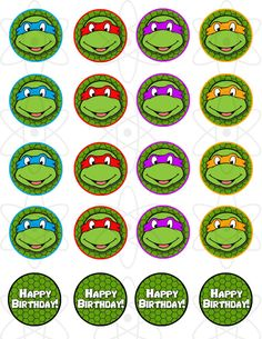 PRINTABLE Teenage Mutant Ninja Turtles Cupcake Toppers