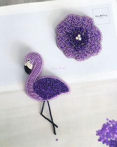 Купить Брошь Фламинго - брошь фламинго, модная брошь, модный аксессуар, подарок подруге