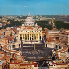 St. Peter Square, Roma, Italy (UNESCO WHS) didnt get to the square but saw it from the street in 2012!!!