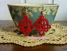 Anneliinin Aarteet : toukokuuta 2015 Tatting Earrings, Needle Tatting, Decorative Bowls, Sewing, Crochet, Crafts, Home Decor, Dressmaking, Manualidades