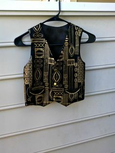 1e39304e8513 Boys vest, African print boys vest, black and gold vest, by VetisDezigns on