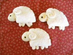 Fluffy+♪+Sheep-Shaped+Cream+Bread