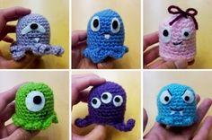 cute little crochet monster plushies