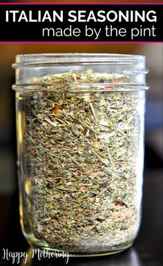 Homemade Italian Seasoning & Italian Dressing - Happy Mothering It's so easy to make your own Italian seasoning and Italian dressing! All you need are a few simple ingredients to make my family's favorite homemade spice mix recipes. Homemade Dry Mixes, Homemade Italian Seasoning, Homemade Spice Blends, Homemade Spices, Homemade Seasonings, Spice Mixes, Homemade Italian Dressing, Good Seasons Italian Dressing Mix Recipe, Italian Seasoning Mixes