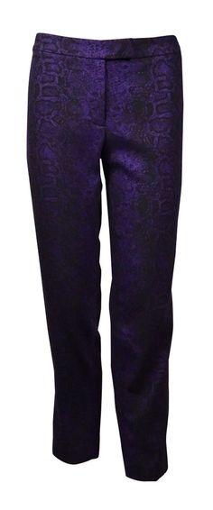 Anne Klein Women's Snake Jacquard Slim Pants