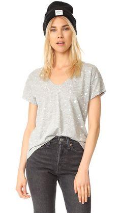 BOBI V Neck High Low Tee. #bobi #cloth #dress #top #shirt #sweater #skirt #beachwear #activewear
