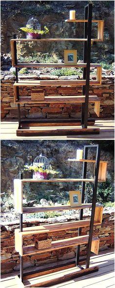 wood pallets pots stand