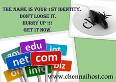 #Book your #Domain now ! http://www.chennaihost.com/whmcs/cart.php?a=add&domain=register