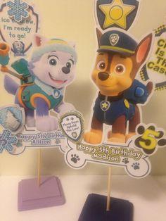 Paw Patrol Centerpiece x1 Personalized by AddyBugs on Etsy