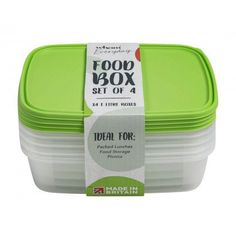 Wham Food Storage 4 Pack Food Storage Containers, Recipe Box, Lunch Recipes, Picnic, Packing, Bag Packaging, Picnics, Luncheon Recipes