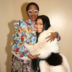 """Video: Star struck Nicki Minaj bows when she meets Lauryn Hill one on one Aww rapper Nicki Minaj met legendary singer Lauryn Hill backstage at the Tidal event early Sunday morning she went on her knees and paid homage to her. She shared the video on her page and captioned it:""""Excuse me while I have an outer body experience. Shaking crying a mess. this lady is the reason. Omg. The queen. Goddess! The epitome! The bar! The faints. Ms Lauryn Hill told me to keep """"spittin dat fire"""". Is this real…"""