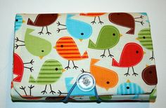 COUPON Organizer / holder / keeper  Urban Zoologie Birds by Laa766  chic / cute / preppy / laptop accessory / desk, computer accessory / office decor / gift / patterned design / school