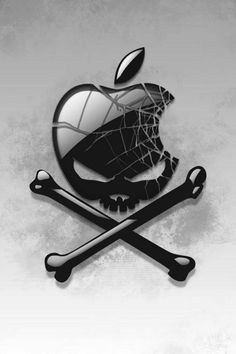 Apple Logo Skull & Crossbones http://www.skullclothing.net