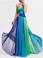Color Block Absorbing Sweetheart Party-dress
