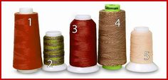 Tips on using the right serger thread. There is a difference! From Sew News #sewnews #serger #thread