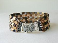 Beadwoven pulsera abalorios pulsera pulsera por CharlotteJewelryBox, $95.00