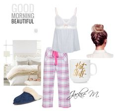 """""""Good Morning!"""" by jackie-mallet ❤ liked on Polyvore featuring Cyberjammies, Eberjey, UGG Australia, MyStyle, women and weekendbeauty"""