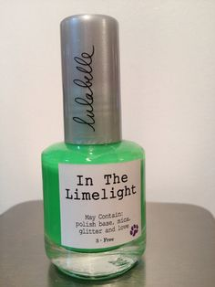 In The Limelight is a stunning new neon green color by Lulabelle and part of the new Neon Collection, out just in time for summer! In The Limelight is a matte neon green that is a beautiful stand alone color and also looks great under pretty glitter toppers! In The Lime Light will most definitely put the spot light on your nails!