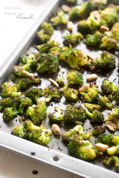 Spicy Asian Roasted Broccoli - A super simple, healthy side that your family will LOVE! | Foodfaithfitness.com | @FoodFaithFit