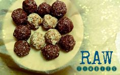 #raw #donutholes from Baking Backwards blog! Healthy, nut-free, gluten-free naturally sweet snacking!