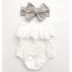 Cute Baby Girl Onesies & Hat Set For Summer