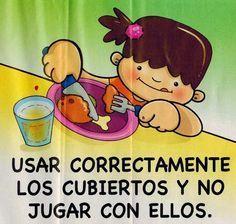 Maestra De Infantil Normas Para Comer En La Mesa Habitos De Alimentacion E Higiene Habitos De Higiene Buenos Modales Para Ninos Habitos De Alimentacion