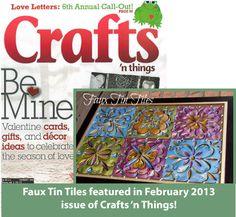 crafts n things magazine faux metal tiles tutorial