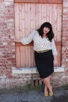 Hems for Her Trendy Plus Size Fashion for Women: (Pencil) Skirting the Issue