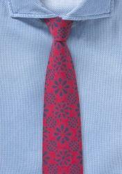 Baumwoll-Krawatte mit blumigem Pattern günstig kaufen