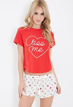Pin for Later: 14 Sweet Valentine's Day Gifts — All Under $100 Forever 21 PJ Set Forever 21's Kiss Me PJ Set ($13) would make for the perfect gift for your girlfriend, sister, or BFF. The best part? The price is right.