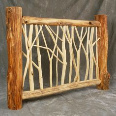 Lean too Lean too Wood Deck Railing, Stair Railing, Stairs, Rustic Deck, Driftwood Projects, Rustic Gardens, Fence Design, Garden Gates, Garden Projects