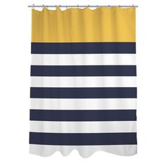 Found it at Wayfair - Nautical Striped Shower Curtain