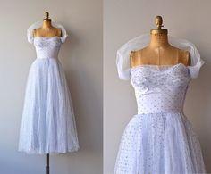 Little Darling dress  vintage 1950s dress  polka dot by DearGolden