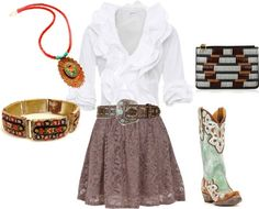 """Western wear done right"" by claire-bruce on Polyvore"
