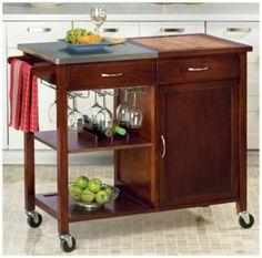 Deluxe Rolling Kitchen Cart