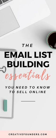 Email List Building Essentials To Sell Your Art Online Email Marketing Design, Email Marketing Strategy, E-mail Marketing, Marketing Quotes, Content Marketing, Online Marketing, Business Marketing, Affiliate Marketing, Digital Marketing
