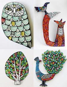 Mosaic Menagerie by Amanda Anderson   My Owl Barn   Bloglovin'