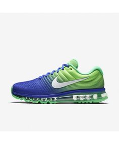 low priced 1cfdc 4ae90 Nike Air Max 2017 Mens Paramount Blue Electro Green White Shoes,Valentine s  Day boys girls