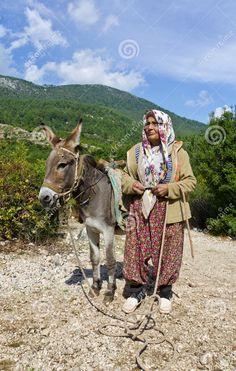 Turkish Rural Woman In Traditional Dress, Kemer, Turkey by Qliebin