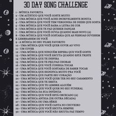 30 Day Song Challenge http://apenasimagine.com.br/30-day-song-challenge/